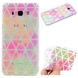 Rainbow Triangle Super Clear Soft TPU Back Cover for Samsung Galaxy J5 2016 J510