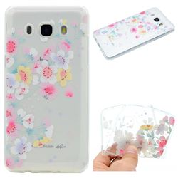 Peach Super Clear Soft TPU Back Cover for Samsung Galaxy J5 2016 J510