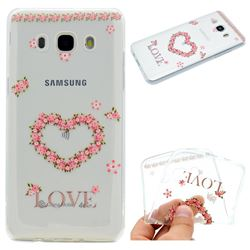 Heart Garland Super Clear Soft TPU Back Cover for Samsung Galaxy J5 2016 J510