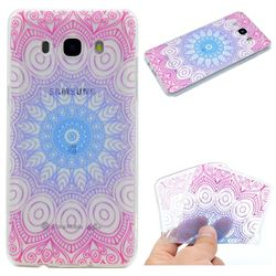 Colored Mandala Super Clear Soft TPU Back Cover for Samsung Galaxy J5 2016 J510