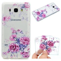 Peony Super Clear Soft TPU Back Cover for Samsung Galaxy J5 2016 J510