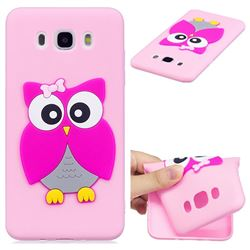 Pink Owl Soft 3D Silicone Case for Samsung Galaxy J5 2016 J510