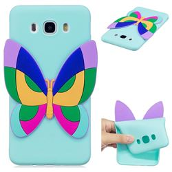 Rainbow Butterfly Soft 3D Silicone Case for Samsung Galaxy J5 2016 J510