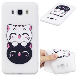 Couple Cats Soft 3D Silicone Case for Samsung Galaxy J5 2016 J510