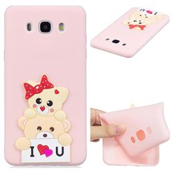Love Bear Soft 3D Silicone Case for Samsung Galaxy J5 2016 J510