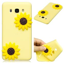 Yellow Sunflower Soft 3D Silicone Case for Samsung Galaxy J5 2016 J510