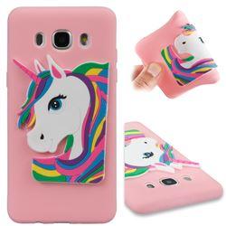 Rainbow Unicorn Soft 3D Silicone Case for Samsung Galaxy J5 2016 J510 - Pink