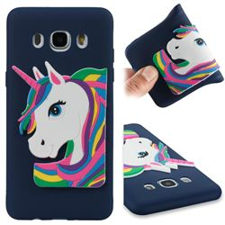 Rainbow Unicorn Soft 3D Silicone Case for Samsung Galaxy J5 2016 J510 - Navy