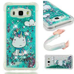 Tiny Unicorn Dynamic Liquid Glitter Sand Quicksand Star TPU Case for Samsung Galaxy J5 2016 J510
