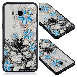 Lilac Lace Diamond Flower Soft TPU Back Cover for Samsung Galaxy J5 2016 J510