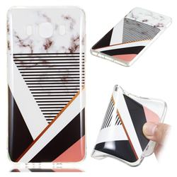 Pinstripe Soft TPU Marble Pattern Phone Case for Samsung Galaxy J5 2016 J510