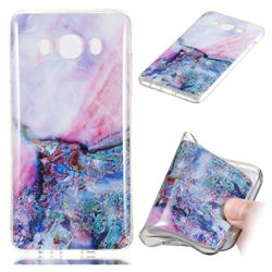 Purple Amber Soft TPU Marble Pattern Phone Case for Samsung Galaxy J5 2016 J510