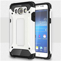 King Kong Armor Premium Shockproof Dual Layer Rugged Hard Cover for Samsung Galaxy J5 2016 J510 - White