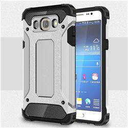King Kong Armor Premium Shockproof Dual Layer Rugged Hard Cover for Samsung Galaxy J5 2016 J510 - Technology Silver