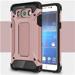 King Kong Armor Premium Shockproof Dual Layer Rugged Hard Cover for Samsung Galaxy J5 2016 J510 - Rose Gold