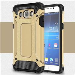 King Kong Armor Premium Shockproof Dual Layer Rugged Hard Cover for Samsung Galaxy J5 2016 J510 - Champagne Gold