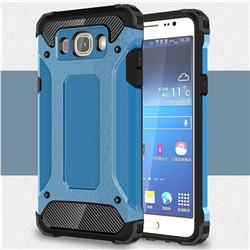 King Kong Armor Premium Shockproof Dual Layer Rugged Hard Cover for Samsung Galaxy J5 2016 J510 - Sky Blue
