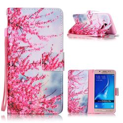 Plum Flower Leather Wallet Phone Case for Samsung Galaxy J5 2016 J510