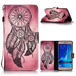 Wind Chimes Leather Wallet Phone Case for Samsung Galaxy J5 2016 J510