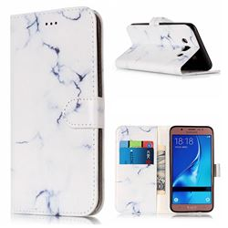 Soft White Marble PU Leather Wallet Case for Samsung Galaxy J5 2016 J510