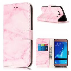 Pink Marble PU Leather Wallet Case for Samsung Galaxy J5 2016 J510