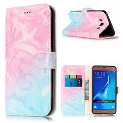 Pink Green Marble PU Leather Wallet Case for Samsung Galaxy J5 2016 J510
