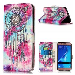 Butterfly Chimes PU Leather Wallet Case for Samsung Galaxy J5 2016 J510