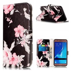 Azalea Flower PU Leather Wallet Case for Samsung Galaxy J5 2016 J510