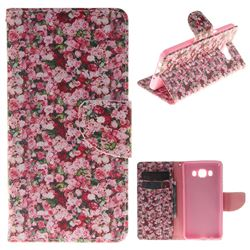 Intensive Floral PU Leather Wallet Case for Samsung Galaxy J5 2016 J510