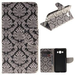 Totem Flowers PU Leather Wallet Case for Samsung Galaxy J5 2016 J510