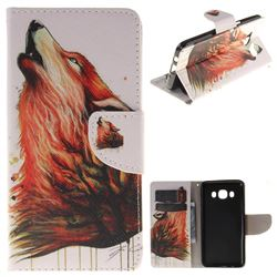 Color Wolf PU Leather Wallet Case for Samsung Galaxy J5 2016 J510