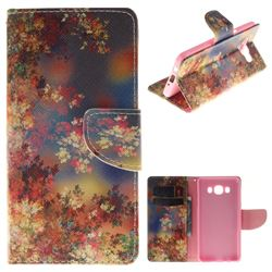 Colored Flowers PU Leather Wallet Case for Samsung Galaxy J5 2016 J510