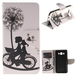 Cycling Dandelion PU Leather Wallet Case for Samsung Galaxy J5 2016 J510