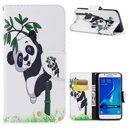Bamboo Panda Leather Wallet Case for Samsung Galaxy J5 2016 J510