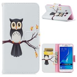 Owl on Tree Leather Wallet Case for Samsung Galaxy J5 2016 J510