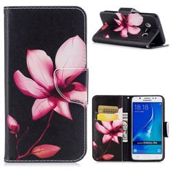 Lotus Flower Leather Wallet Case for Samsung Galaxy J5 2016 J510