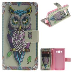 Weave Owl PU Leather Wallet Case for Samsung Galaxy J5 2016 J510