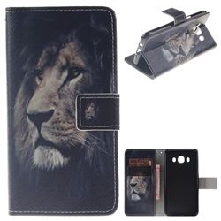 Lion Face PU Leather Wallet Case for Samsung Galaxy J5 2016 J510