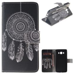 Black Wind Chimes PU Leather Wallet Case for Samsung Galaxy J5 2016 J510