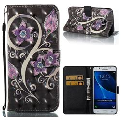 Peacock Flower 3D Painted Leather Wallet Case for Samsung Galaxy J5 2016 J510