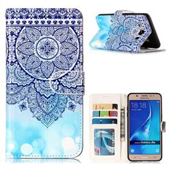 Totem Flower 3D Relief Oil PU Leather Wallet Case for Samsung Galaxy J5 2016 J510