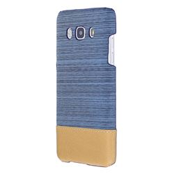Canvas Cloth Coated Plastic Back Cover for Samsung Galaxy J5 2016 J510 - Light Blue
