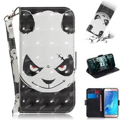 Angry Bear 3D Painted Leather Wallet Phone Case for Samsung Galaxy J5 2016 J510