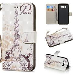 Tower Couple 3D Painted Leather Wallet Phone Case for Samsung Galaxy J5 2016 J510