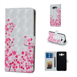 Cherry Blossom 3D Painted Leather Phone Wallet Case for Samsung Galaxy J5 2016 J510