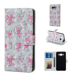 Roses Flower 3D Painted Leather Phone Wallet Case for Samsung Galaxy J5 2016 J510