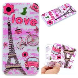 Love Eiffel Tower Super Clear Soft TPU Back Cover for Samsung Galaxy J5 2017 US Edition
