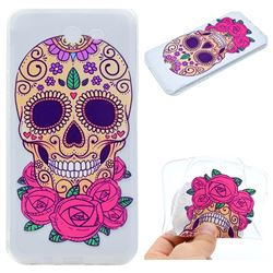 Skeleton Flower Super Clear Soft TPU Back Cover for Samsung Galaxy J5 2017 US Edition