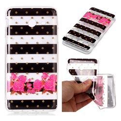 Striped Flowers Super Clear Soft TPU Back Cover for Samsung Galaxy J5 2017 US Edition