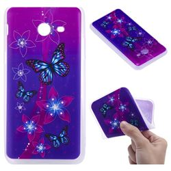 Butterfly Flowers 3D Relief Matte Soft TPU Back Cover for Samsung Galaxy J5 2017 US Edition